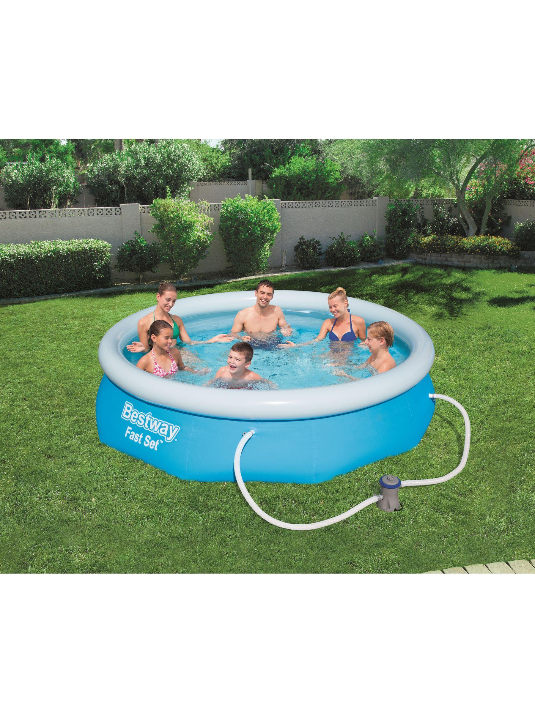 Bestway Fast Set Pool, 10 X 30 | 10Ft Pool, Easy Set Pools ... destiné Piscine Tubulaire Castorama
