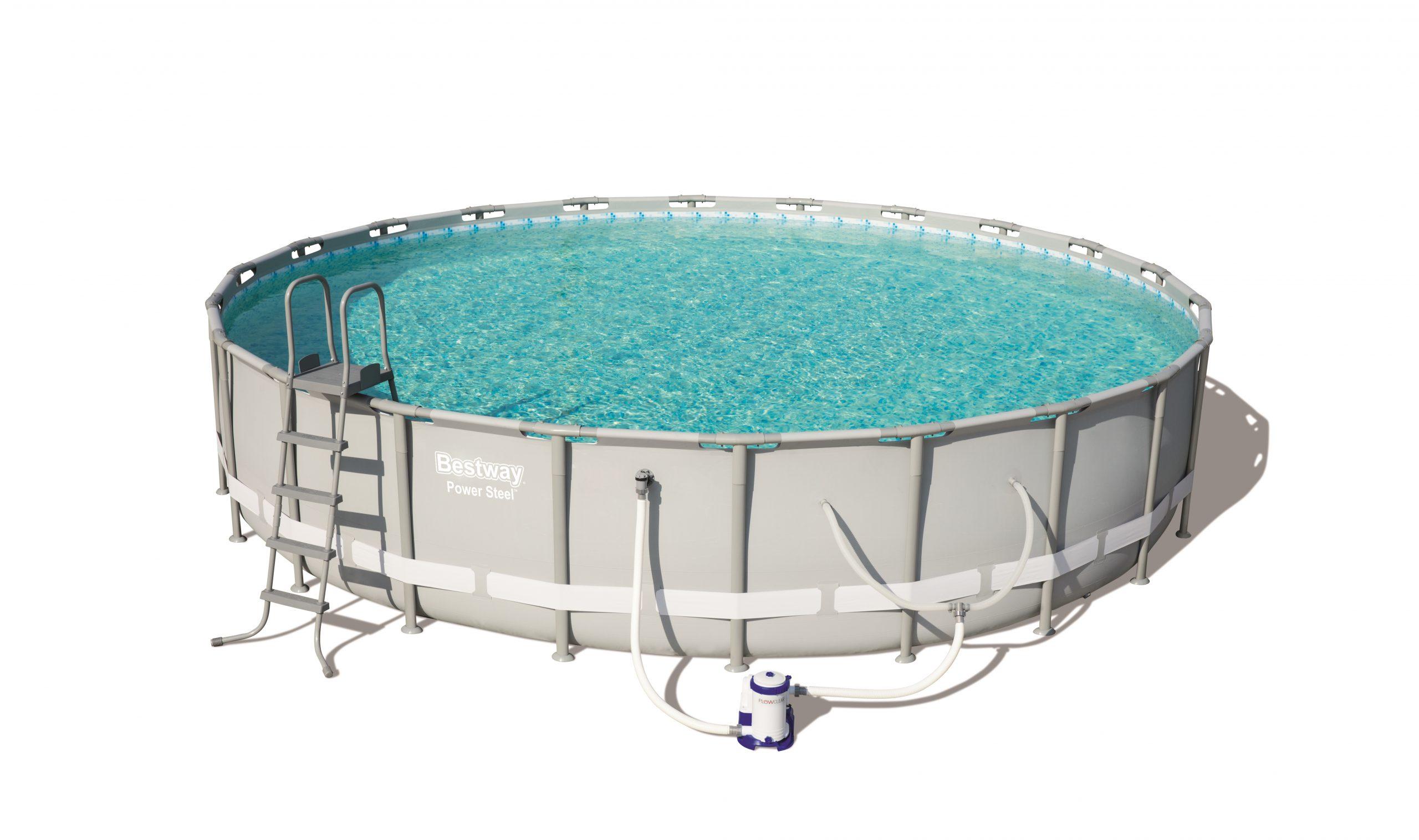 "Bestway Power Steel 16' X 48"" Frame Swimming Pool Set With ... pour Filtre Piscine Bestway Type 2"