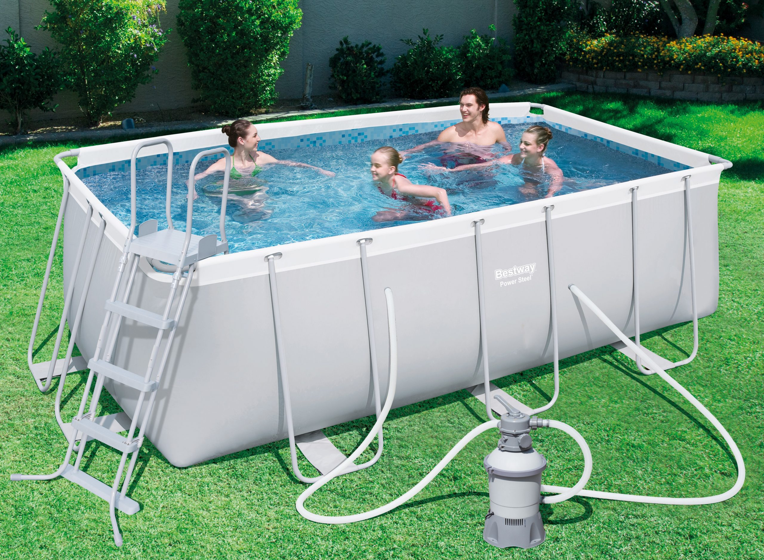 "Bestway ""power Steel"" Tubular Pool 4,12X 2,01X ↕1,22M serapportantà Piscine Bestway Avis"