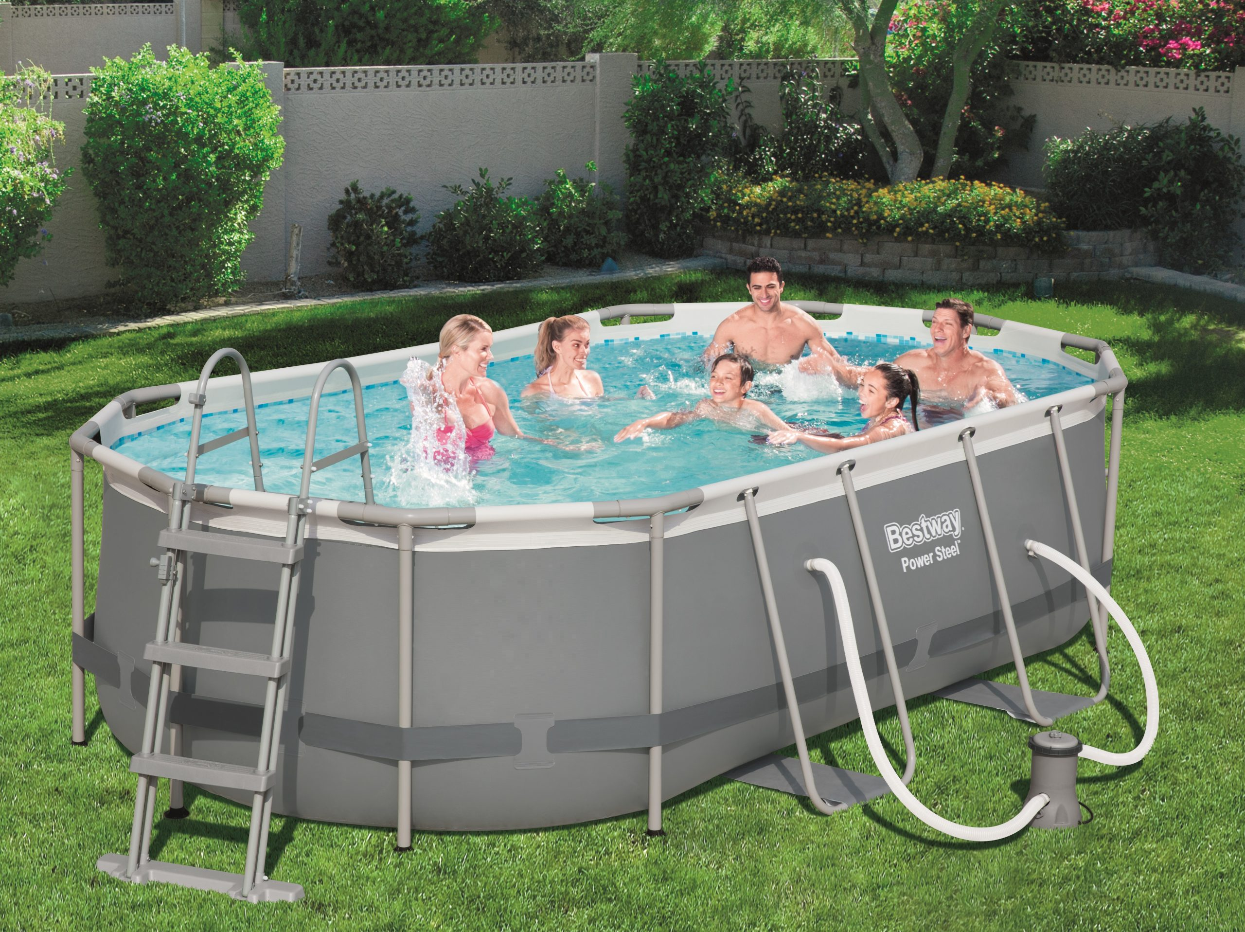 "Bestway ""power Steel"" Tubular Pool 4,24X 2,50X ↕1,00M - C-Piscine à Piscines Tubulaires"