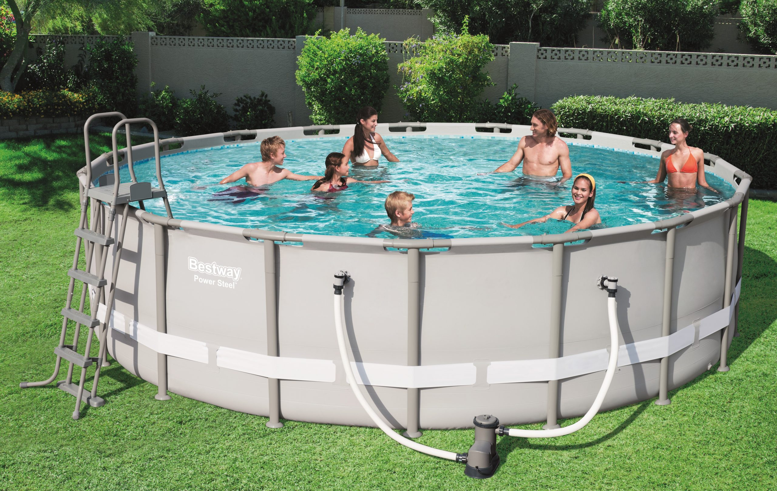 "Bestway ""power Steel"" Tubular Pool 5,49 X ↕1,32M encequiconcerne Piscine Bestway Avis"