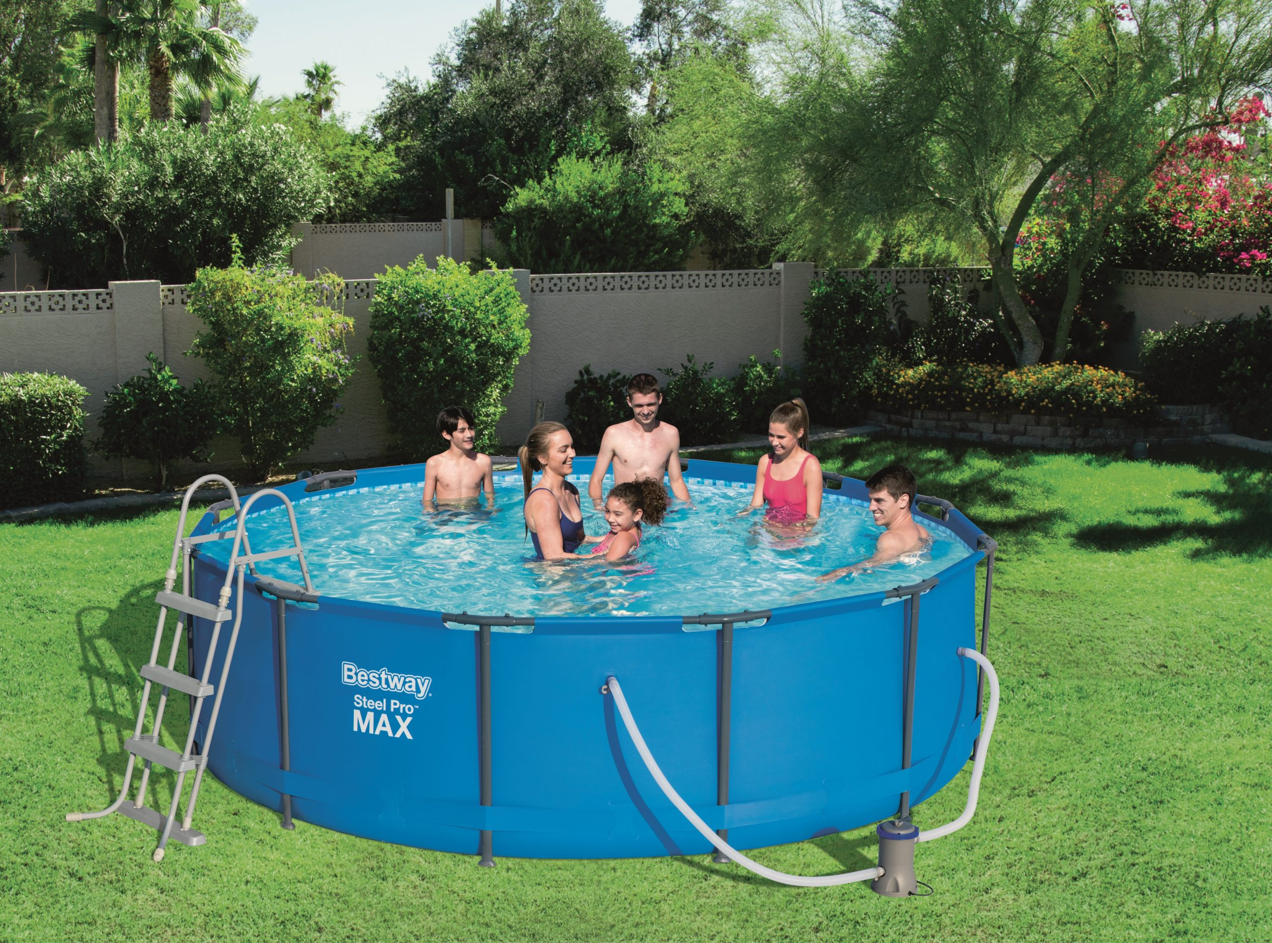 "Bestway Tubular Pool ""steel Pro Max"" 3,66X ↕1,22M - C-Piscine serapportantà Piscine Intex 3.66"
