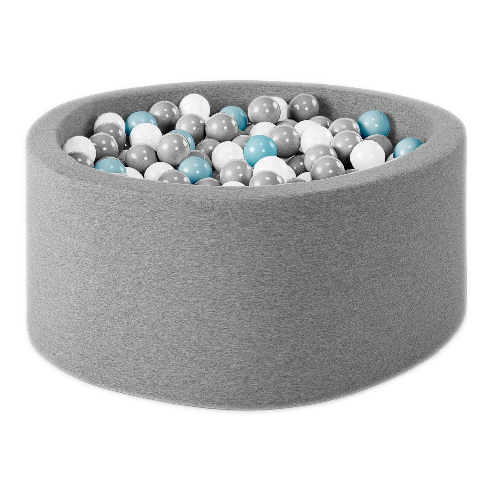 Blue, Silver, White And Transparent Ball Pool Light Grey Misioo à Piscine A Balle En Mousse