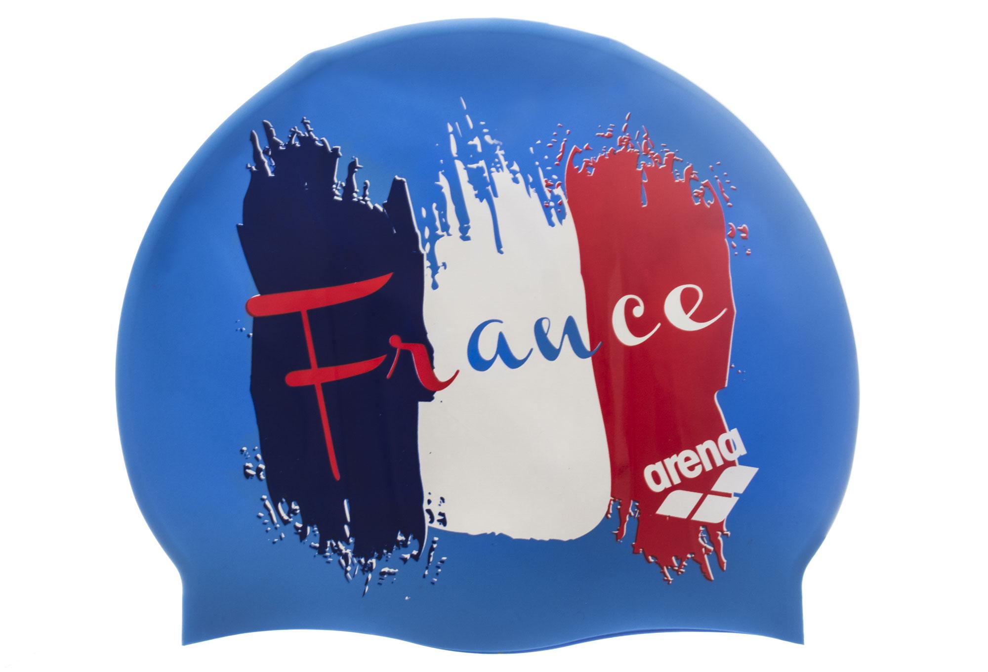 Bonnet De Bain Arena Print France Bleu Blanc Rouge destiné Bonnet De Bain Piscine