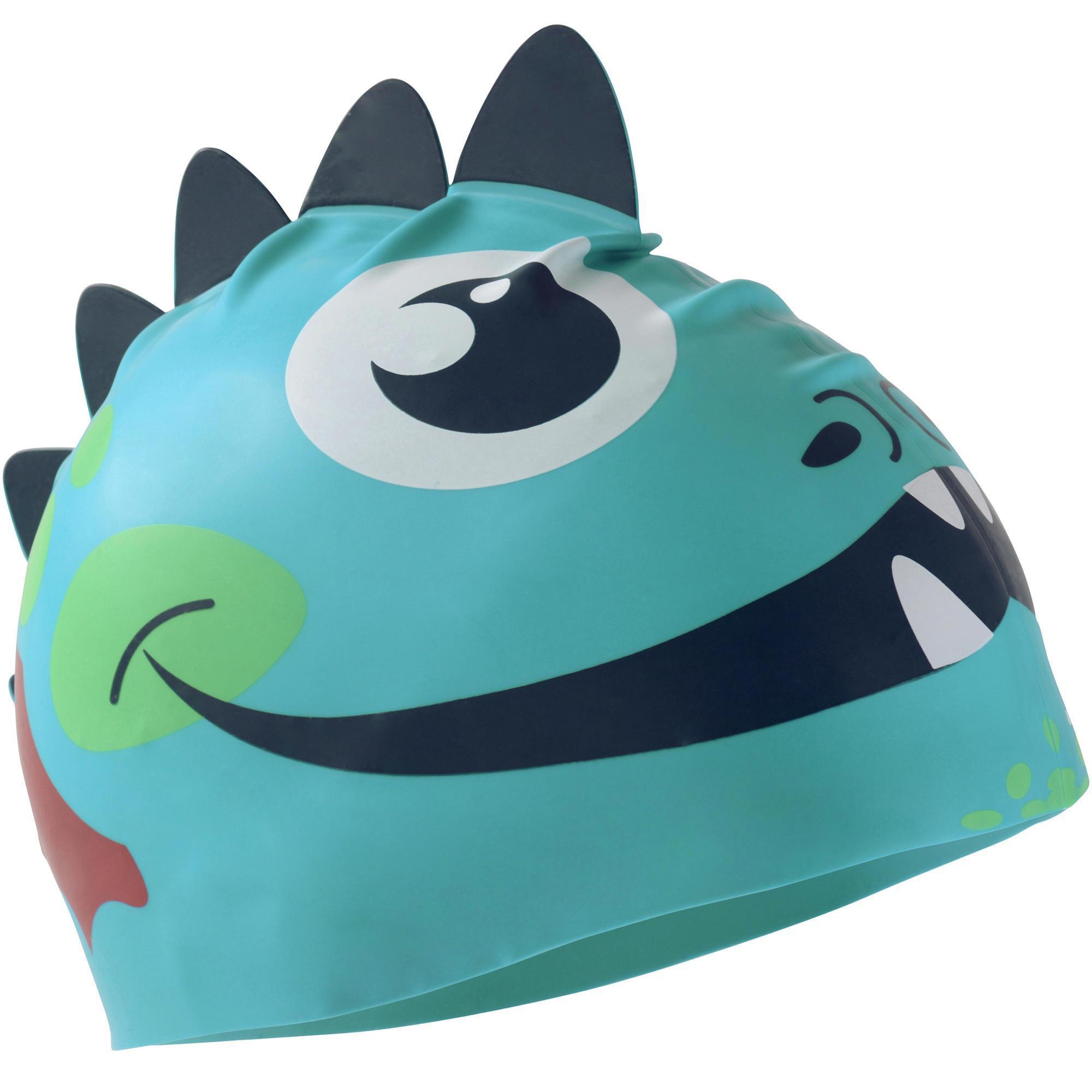 Bonnet De Bain Silicone Form Dragon Bleu dedans Bonnet De Bain Piscine