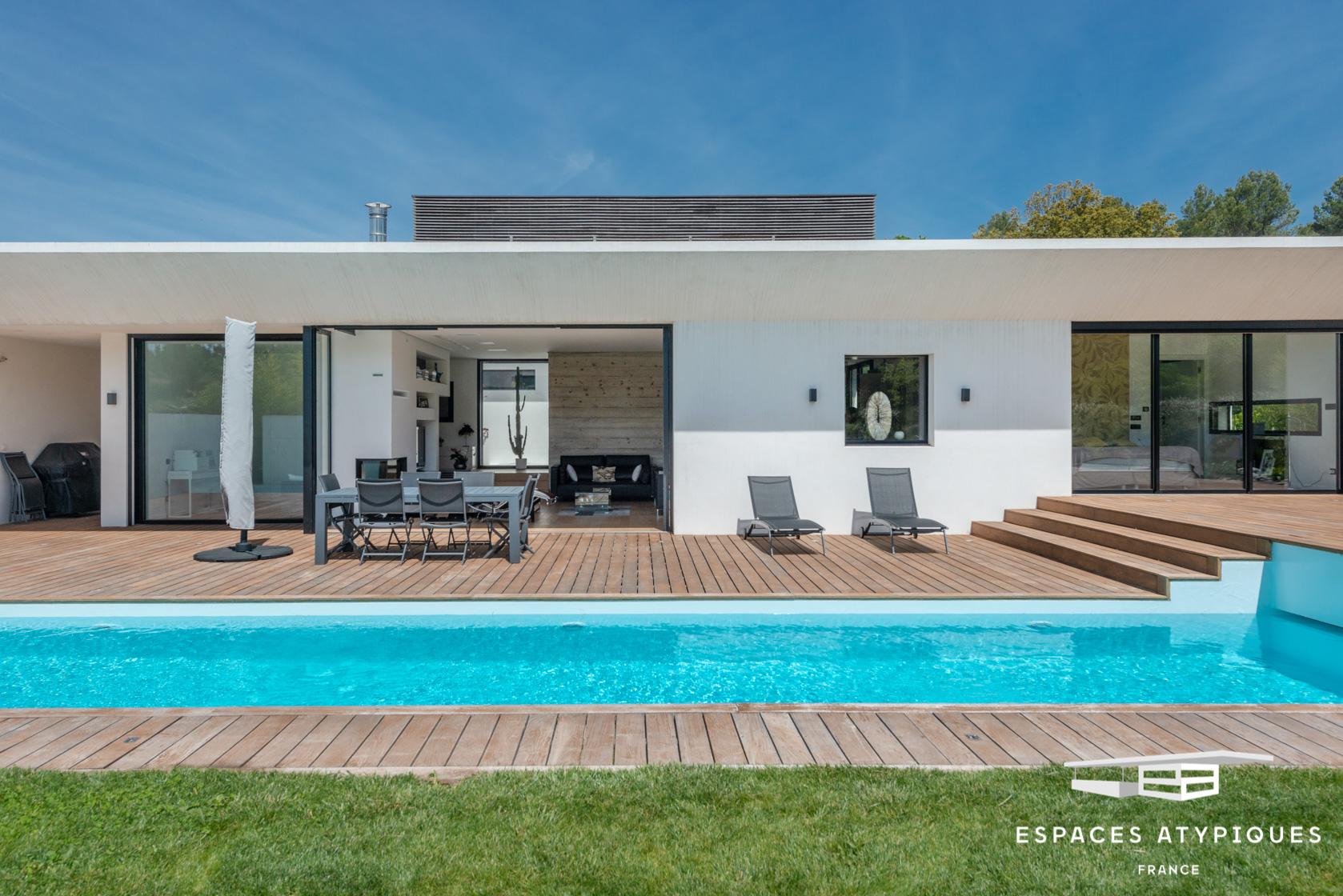 Bouc-Bel-Air : Villa Contemporaine Californienne - Agence Ea ... avec Piscine Bouc Bel Air