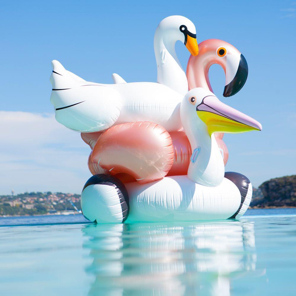 Bouée Cygne Phosphorescent Sunnylife Pour Piscine, Pool ... destiné Animaux Gonflable Pour Piscine
