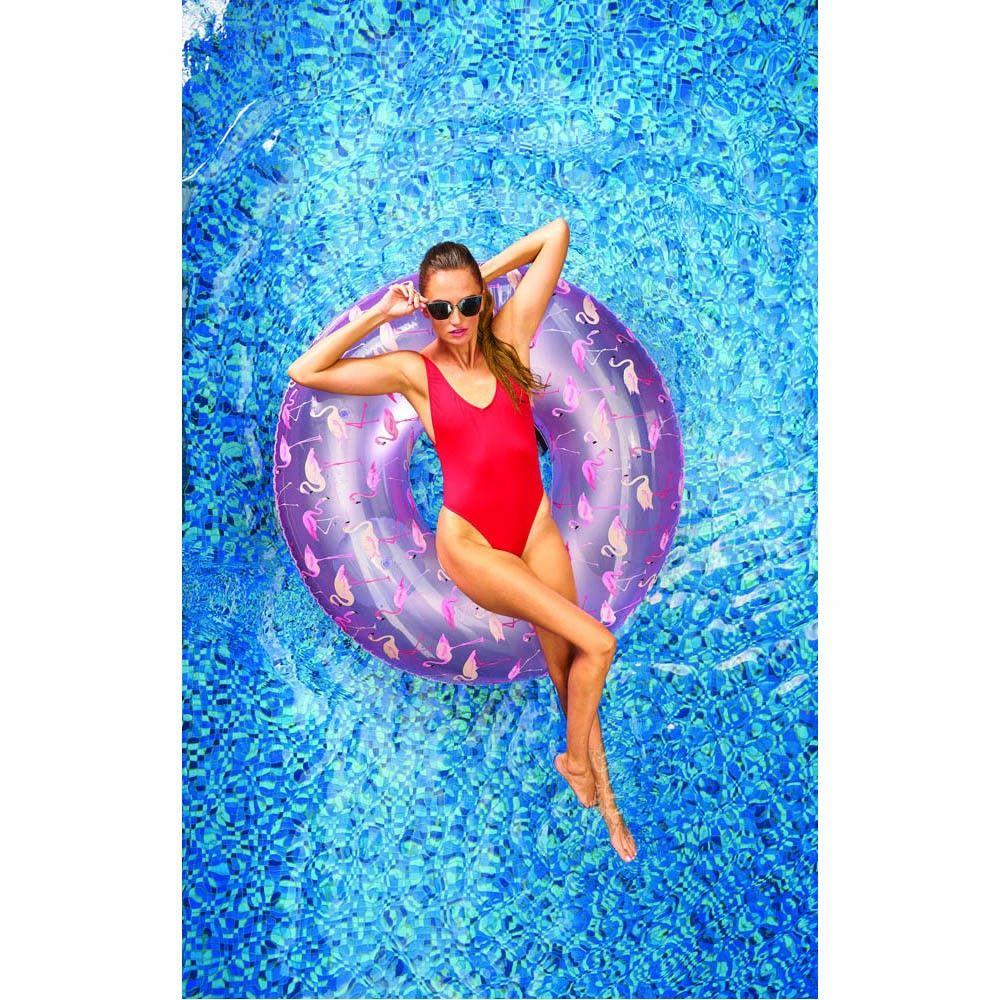 Bouée Gonflable Design Flamant Rose - Ballonnen, Decoratie ... avec Matelas Gonflable Piscine Gifi