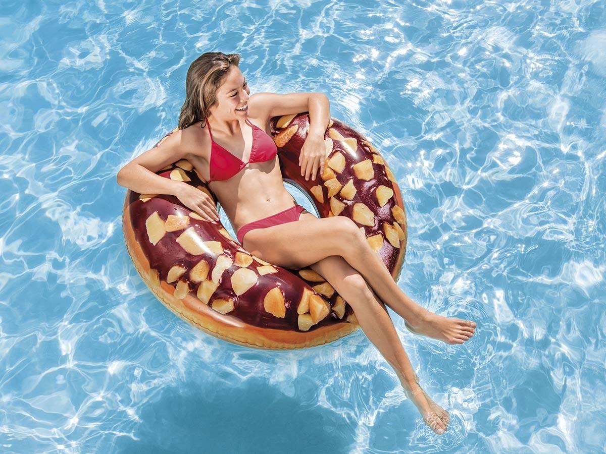 Bouée Gonflable Donut Choco Noisette Ø 114 Cm - Intex dedans Bouée Piscine Originale