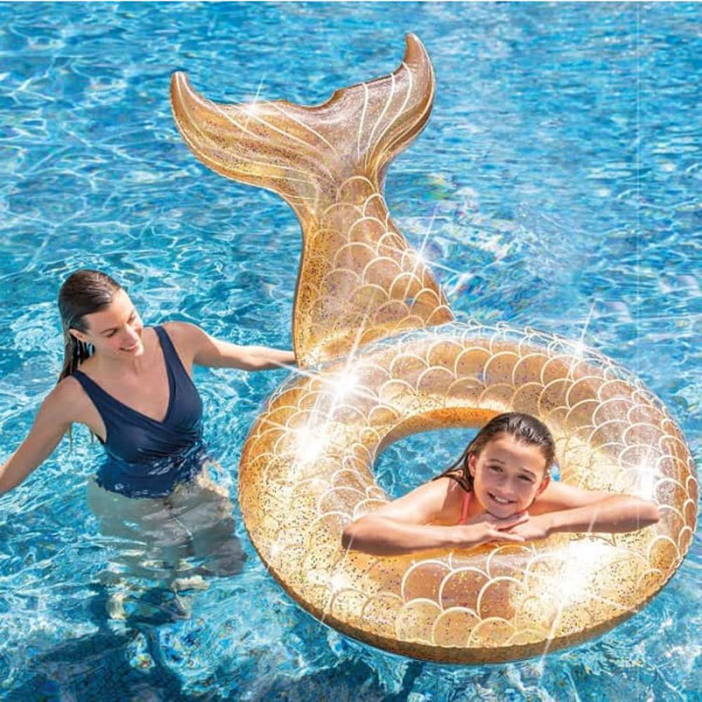 Bouee Sirene Intex Or Brillant pour Bouée Piscine Originale