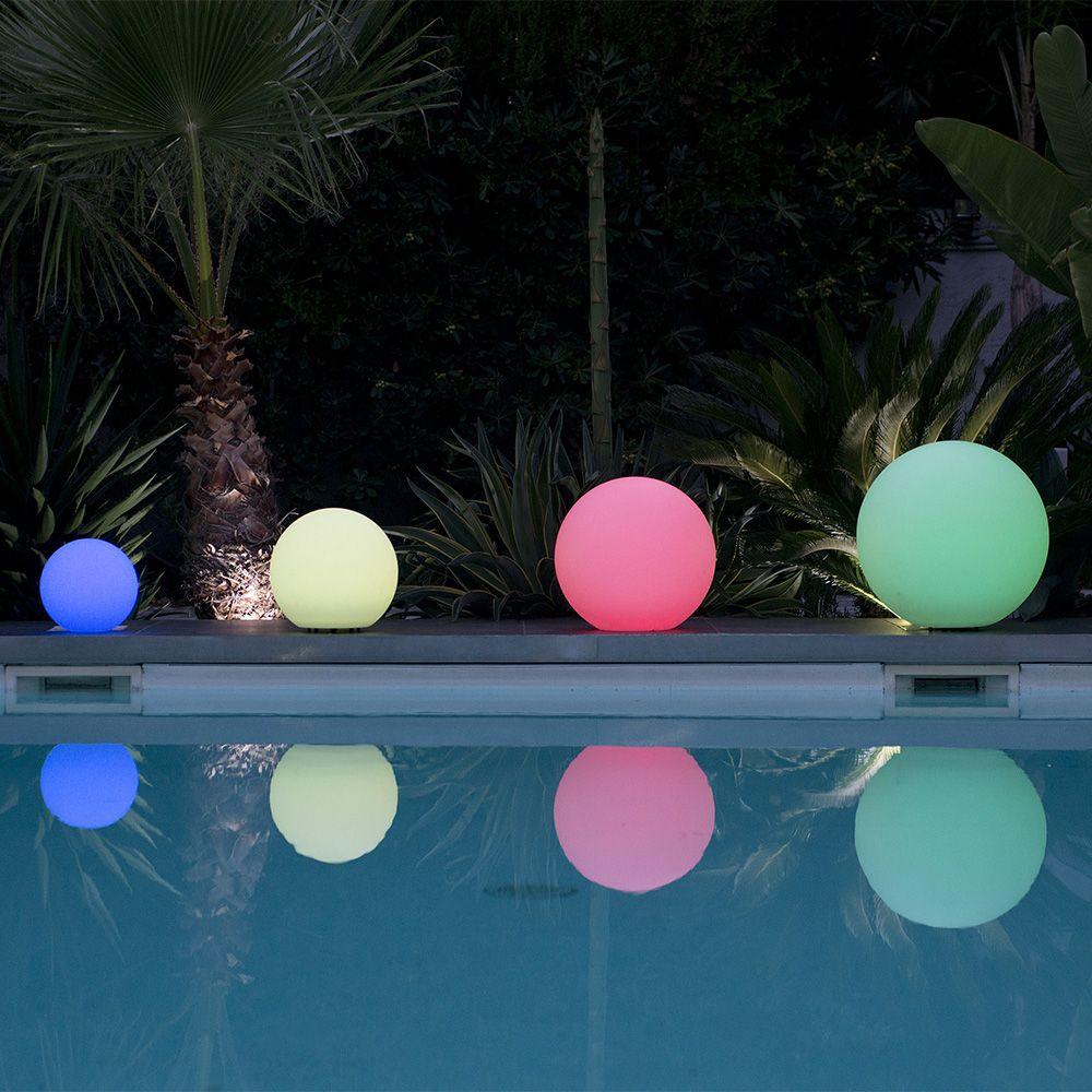 Boule Lumineuse Lumisky Multicolore Bobby C50 à Boule Lumineuse Piscine