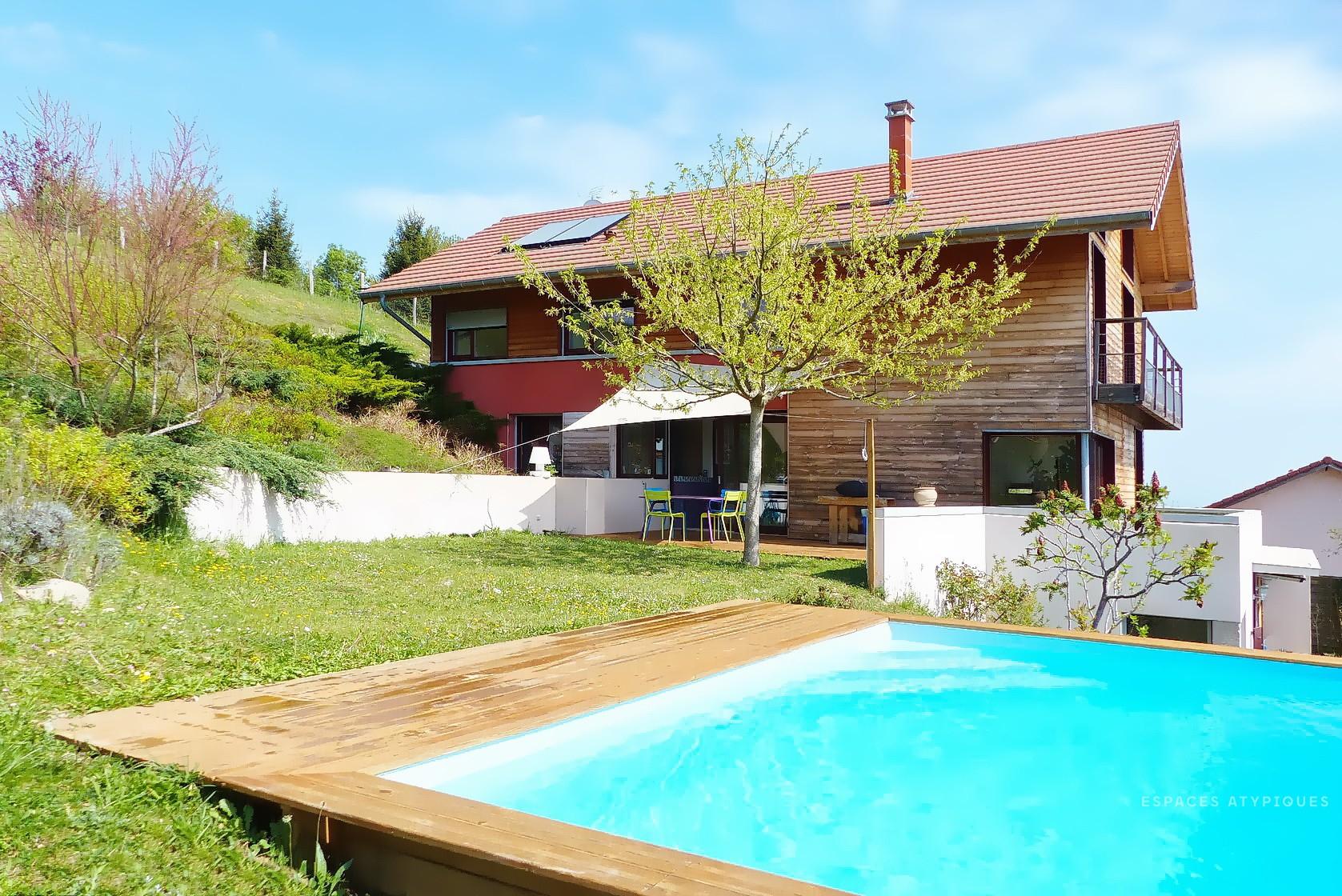 Bourgoin Jallieu : Maison Bioclimatique D'architecte ... pour Piscine Bourgoin Jallieu