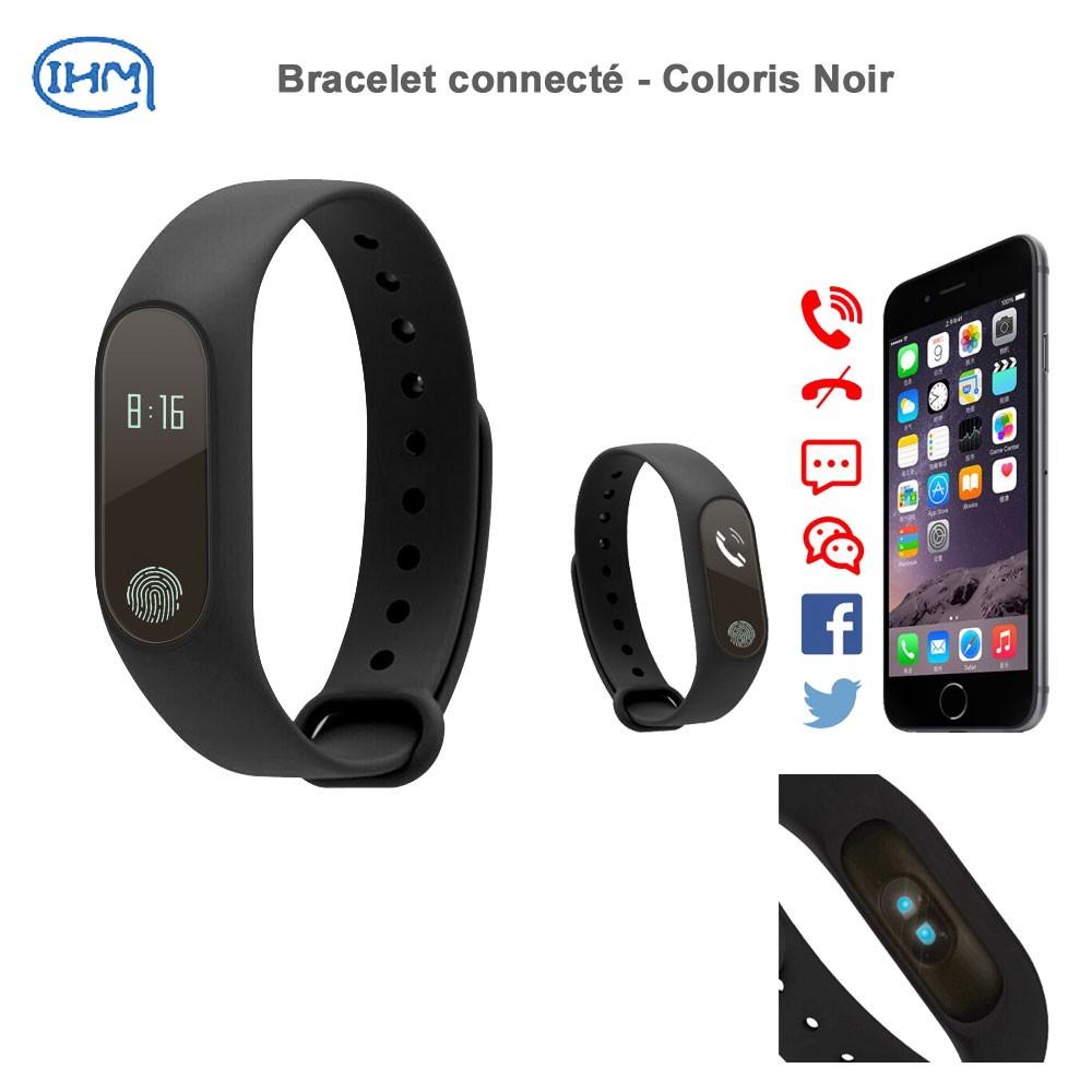 Bracelet Connecté - Coloris Noir serapportantà Bracelet Connecté Piscine