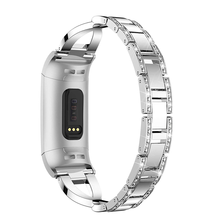 Bracelet Connecté Piscine Bandes Bling Fitbit Charge 3 / Charge 3 Se,  Bandes D'accessoires Pour Poignet De Remplacement En Métal Sangles De  Remise En ... tout Bracelet Connecté Piscine