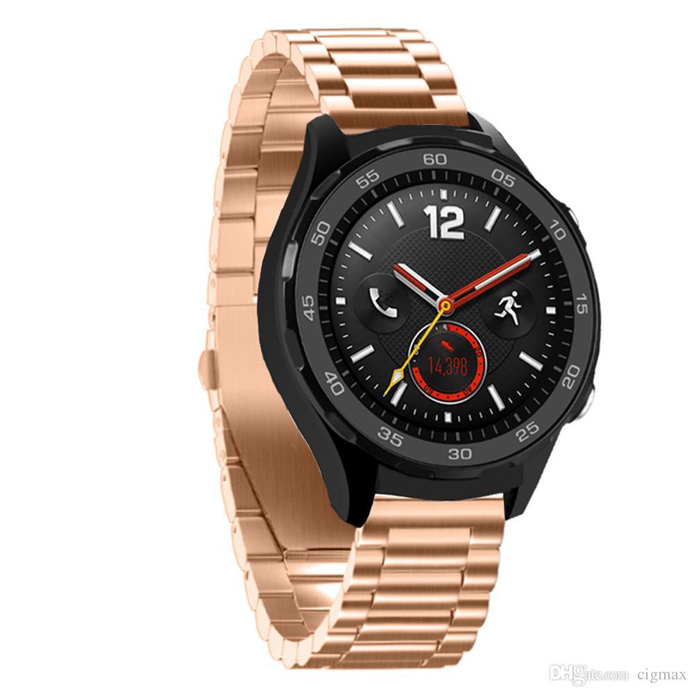 Bracelet En Acier Inoxydable Véritable Bracelet De Montre Intelligente Pour  Huawei Watch 2 Avec Outil dedans Bracelet Connecté Piscine