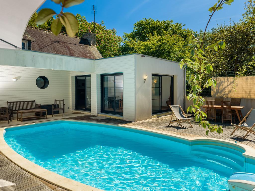 Breton Villa Avec Private Piscine Et Large Jardin, 6 Km De ... à Piscine Pont L Abbé