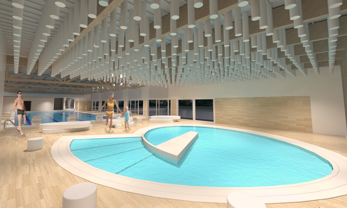 Broissand Architectes » Piscine De Coulaines dedans Piscine De Coulaines