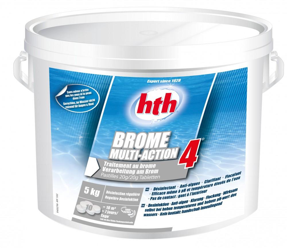 Brome Multifonction 4 Action Hth 5Kg intérieur Colmateur De Fuite Piscine