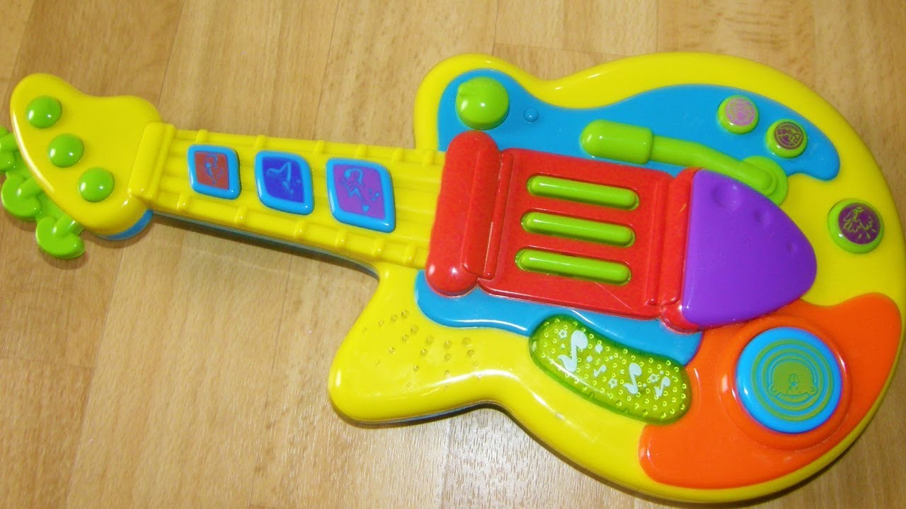 Bruin Baby Rock Guitar Toy Instrument Review Video tout Piscine A Balle Toysrus