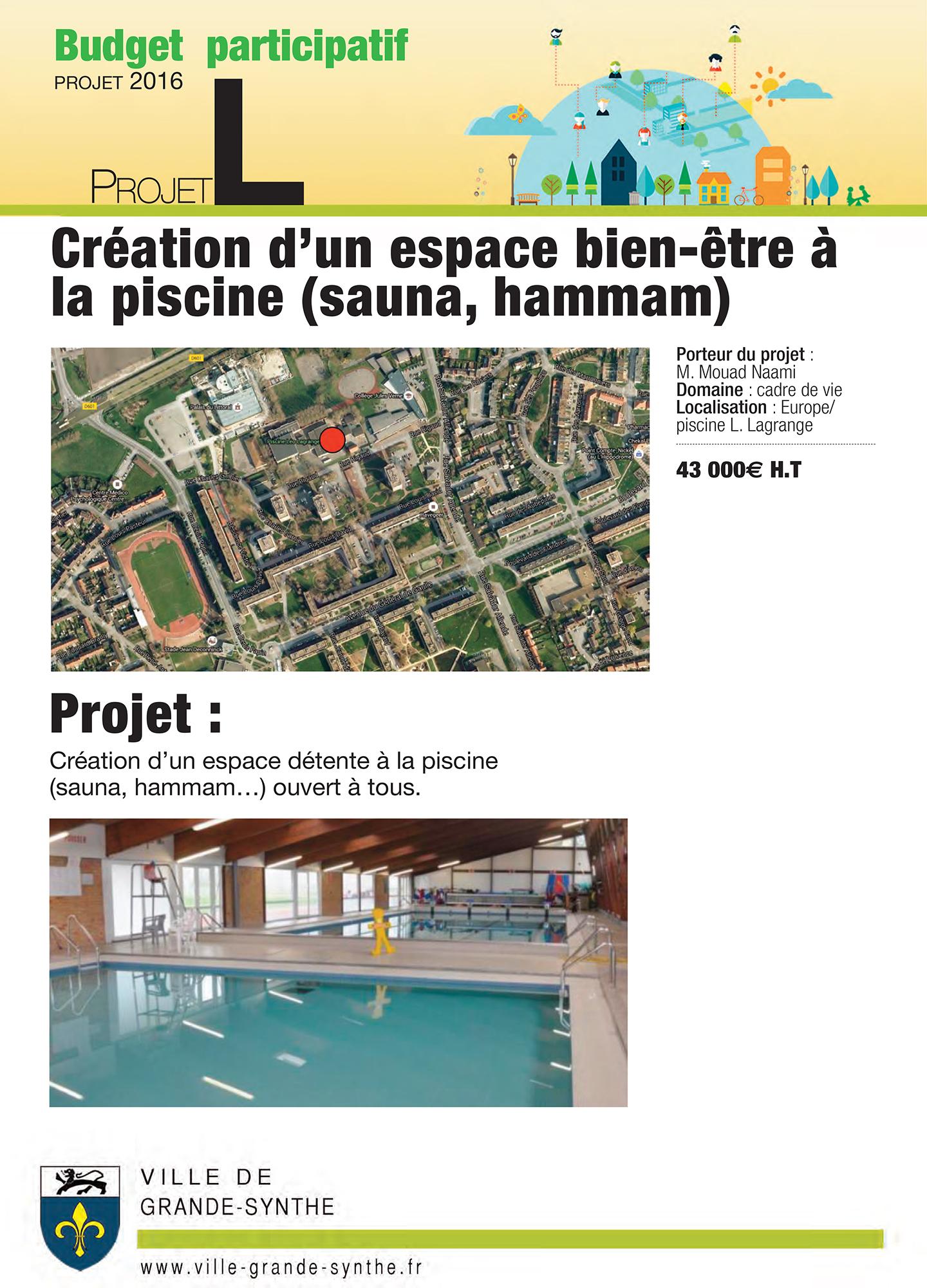Budget Participatif: Présentation Des Projets – Mairie De ... destiné Piscine Léo Lagrange Grande Synthe