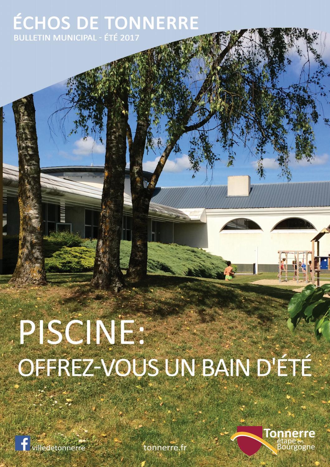Bulletin De Tonnerre - Juin 2017 By Mairie De Tonnerre - Issuu à Piscine Avallon