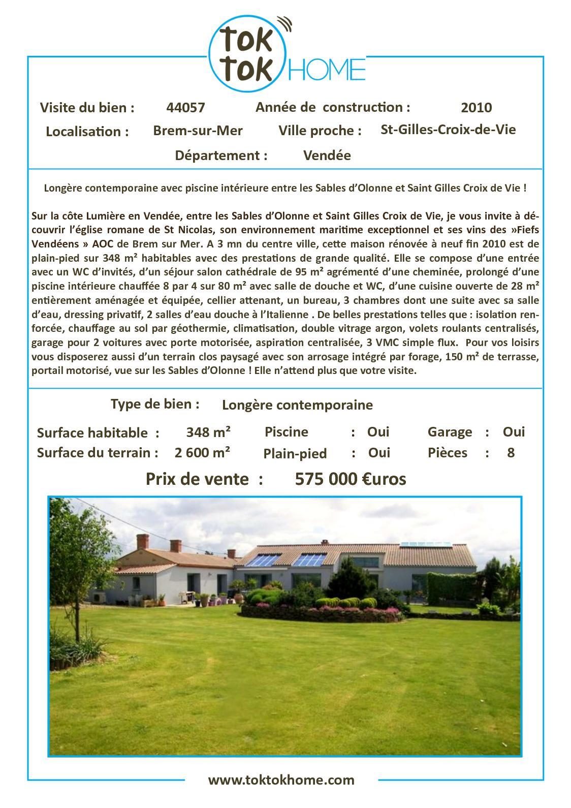Calaméo - 44057 - Longère Contemporaine Avec Piscine ... encequiconcerne Piscine St Gilles Croix De Vie
