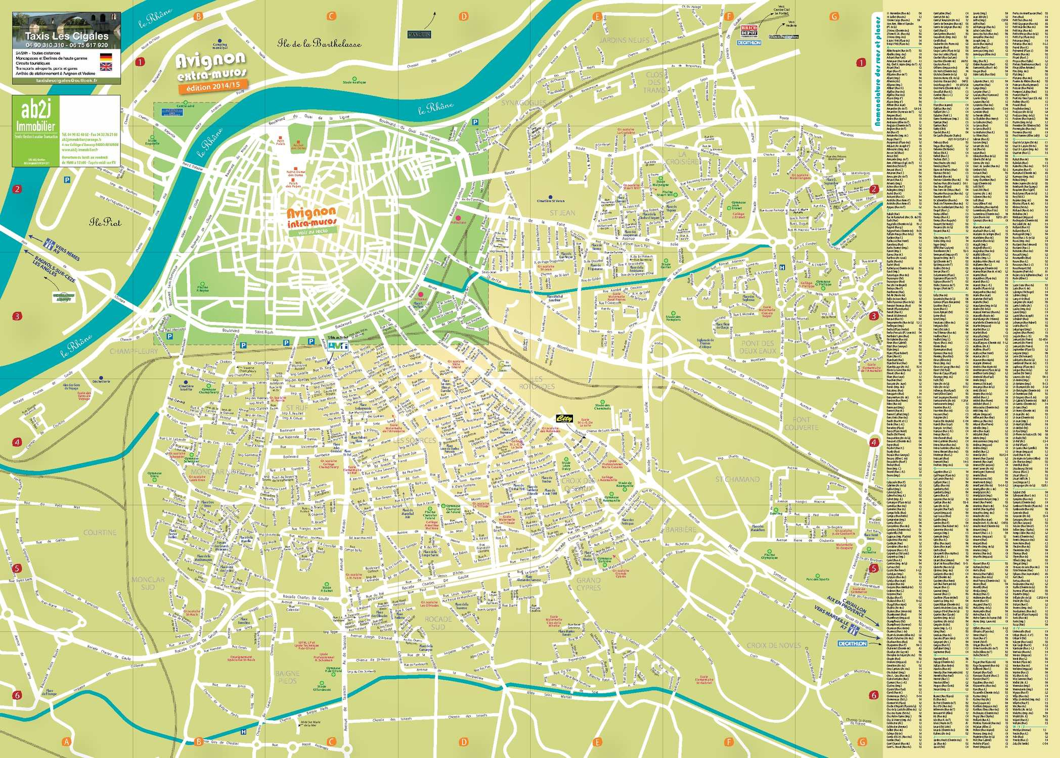 Calaméo - Avignon Plan Elargi destiné Piscine Stuart Mill Avignon