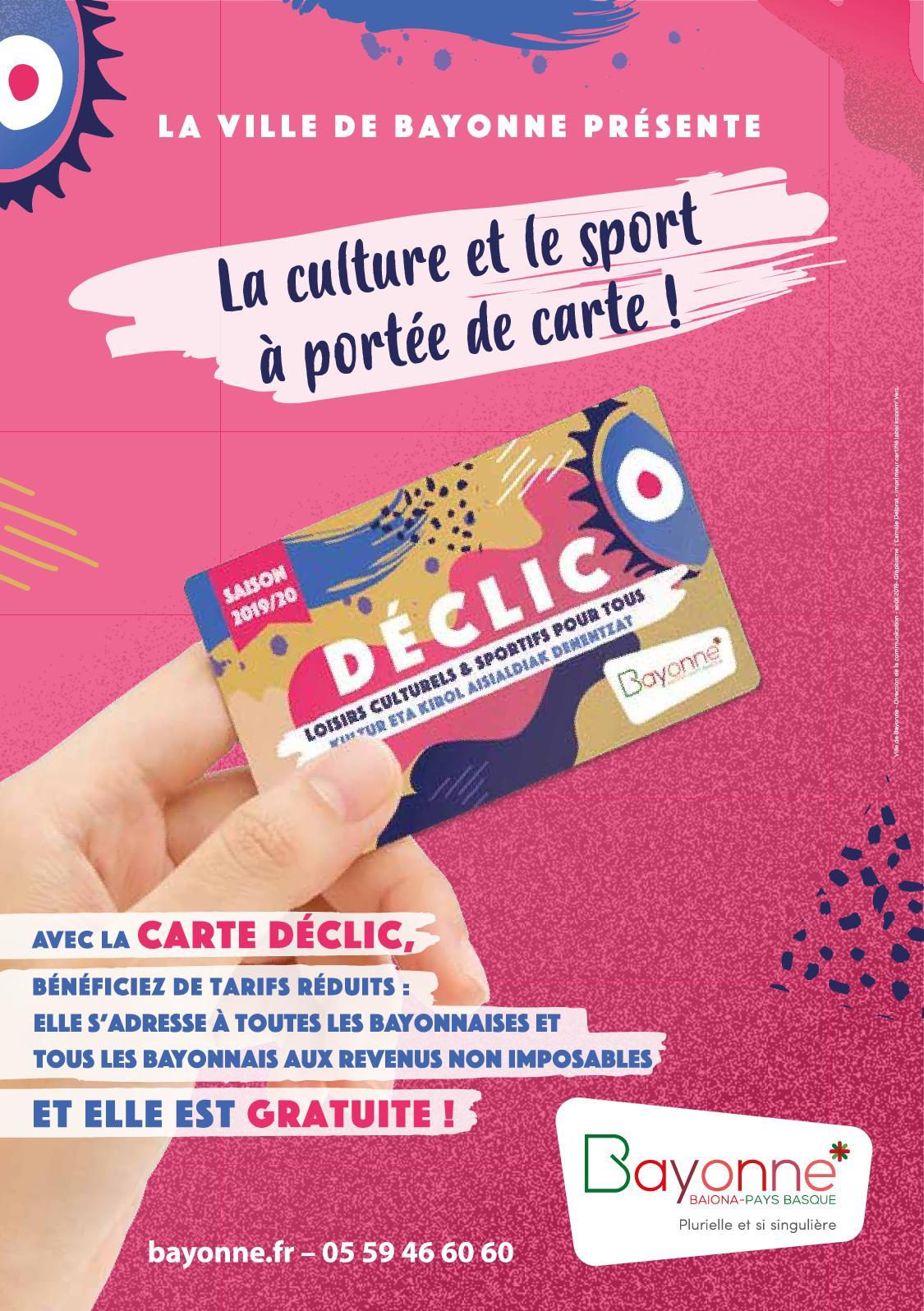 Calaméo - Carte Déclic Bayonne 2019-2020 à Centre Aquatique Des Hauts De Bayonne Piscine Bayonne
