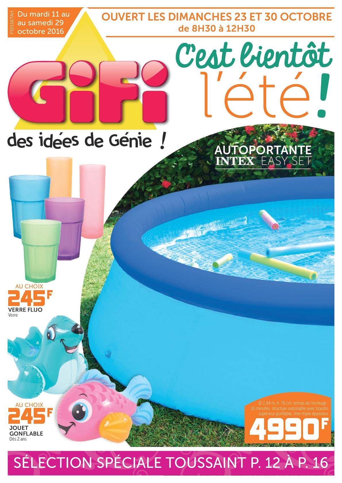 Calaméo - Catalogue Gifi : C'est Bientôt L'été ! destiné Bache Piscine Gifi