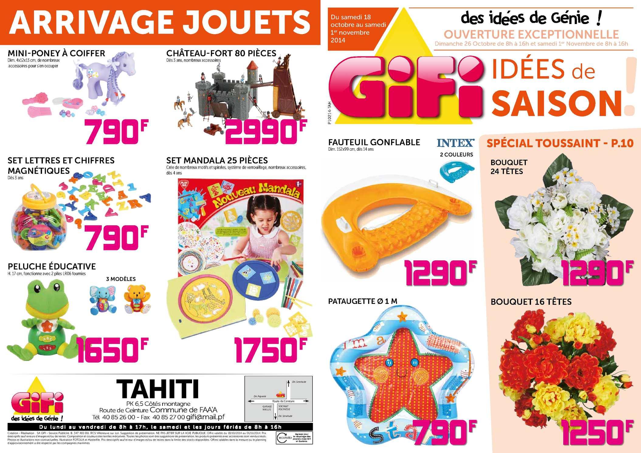 Calaméo - Catalogue Gifi Tahiti - Octobre 2014 dedans Piscine A Balle Gifi