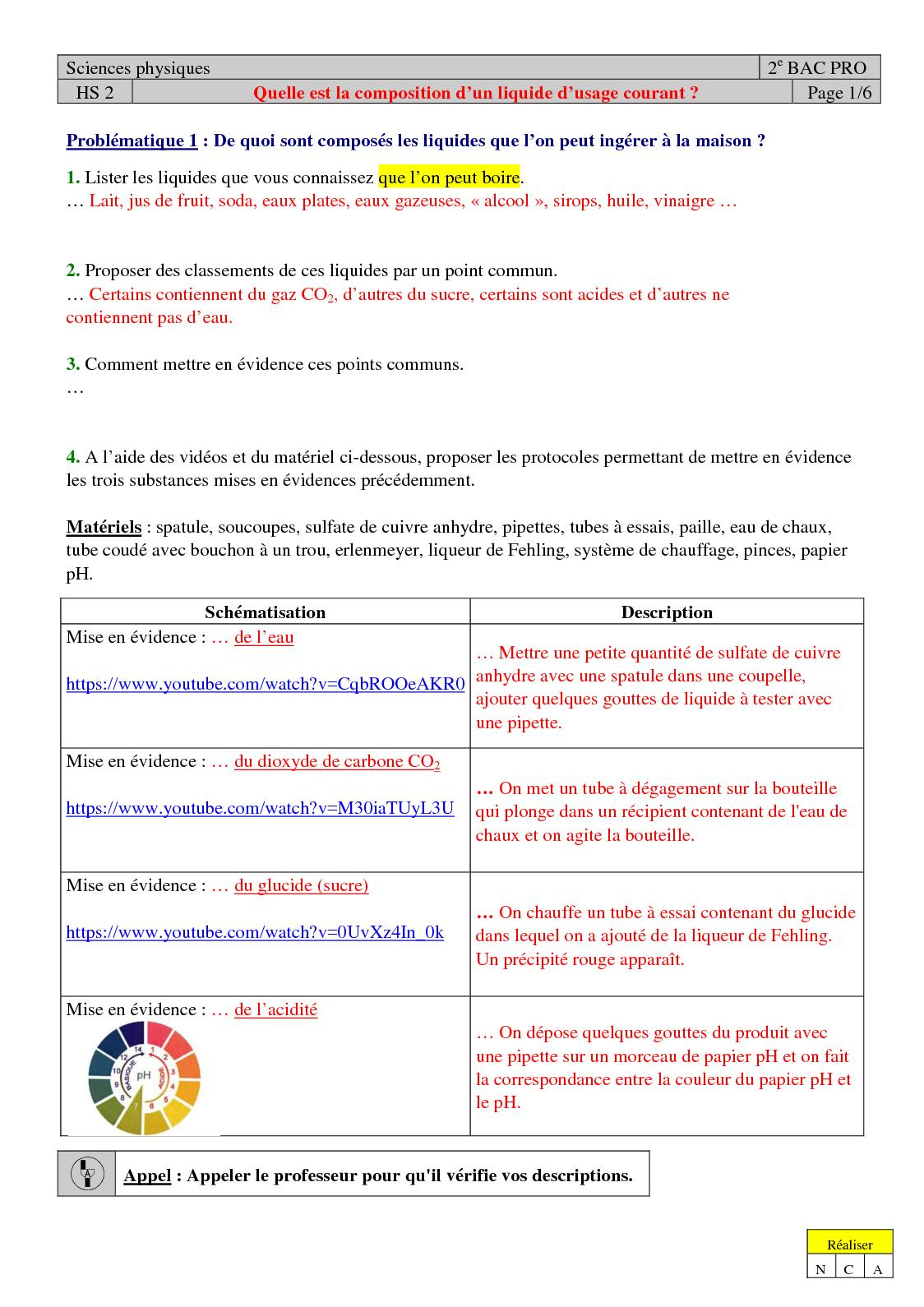 Calaméo - Composition Liquides : Cours pour Sulfate De Cuivre Pour Piscine