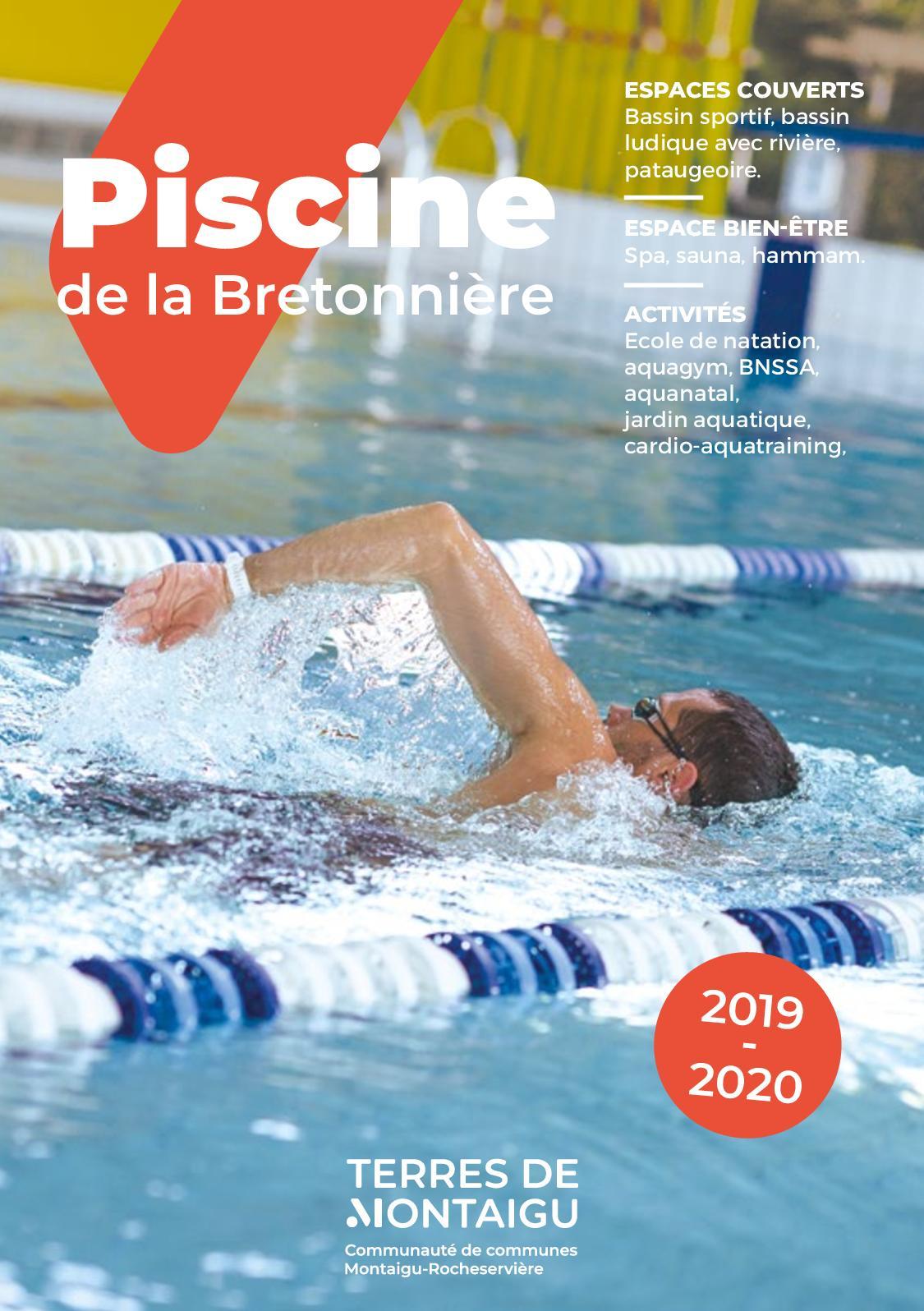 Calaméo - Dépliant 2019-2020 - Piscine De La Bretonnière ... destiné Piscine La Bretonnière