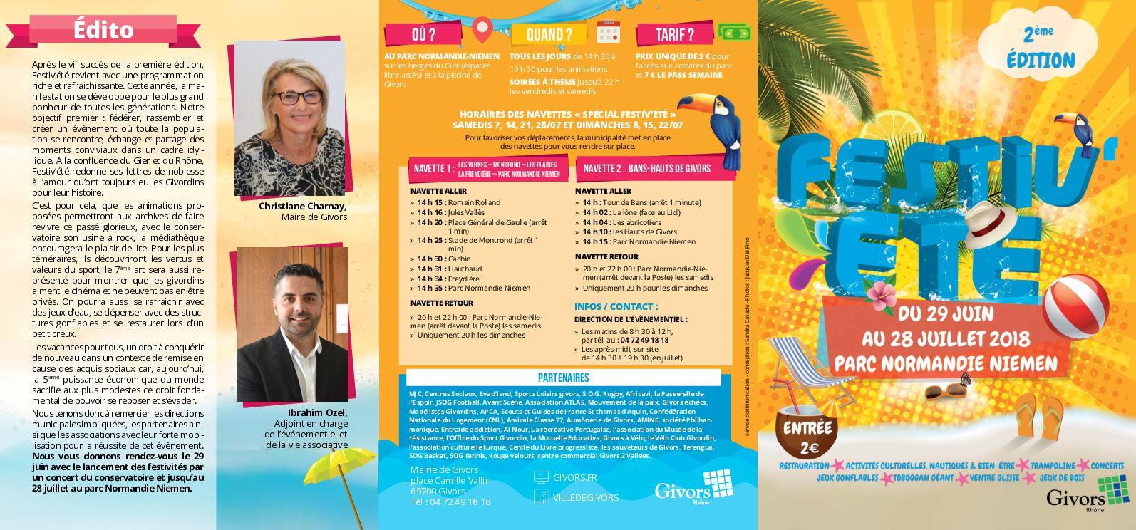 Calaméo - Dépliant Festiv'été 2018 destiné Piscine De Givors