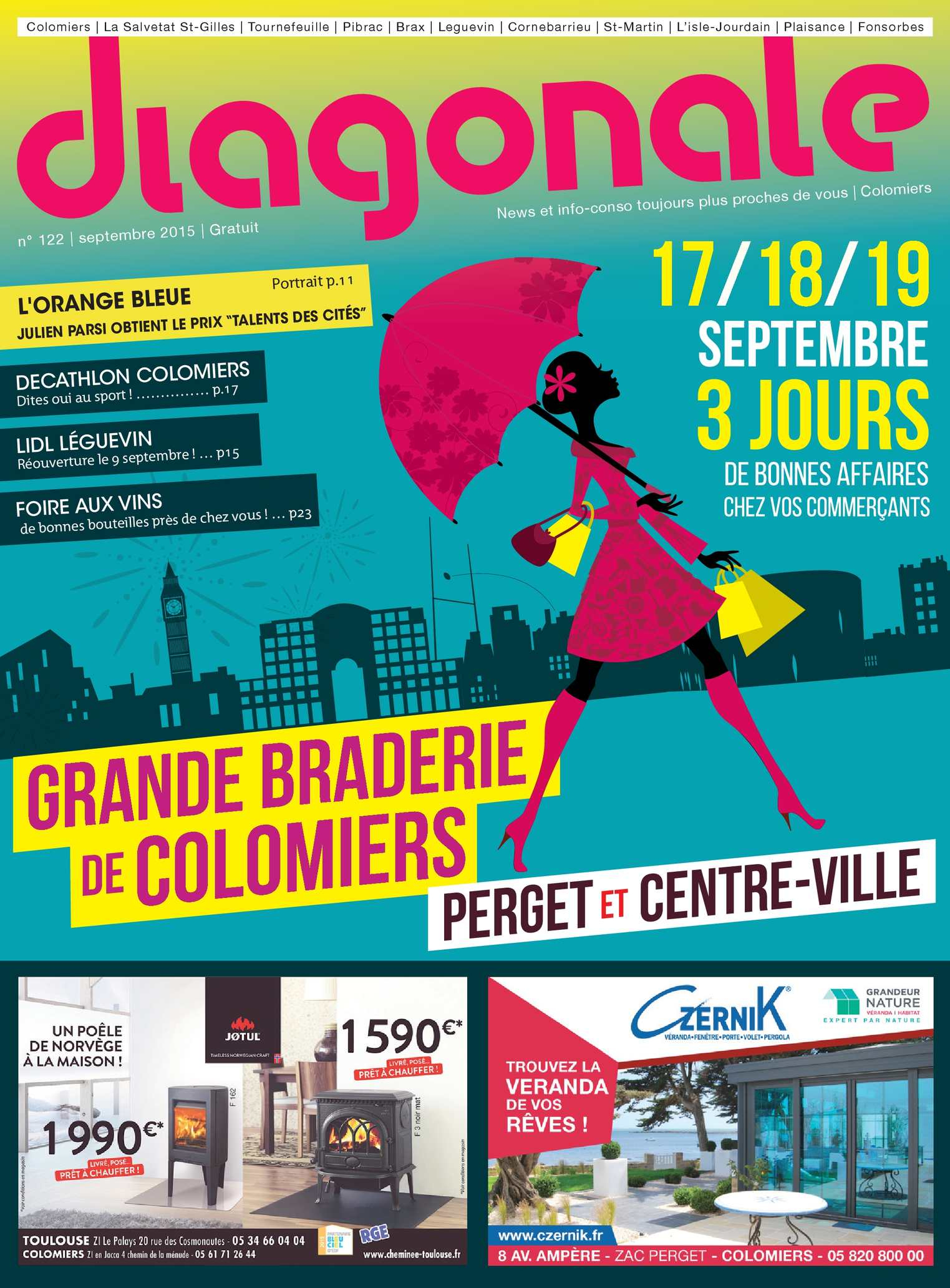 Calaméo - Diagonale Septembre 2015 - Spécial Grande Braderie ... avec Colomiers Piscine