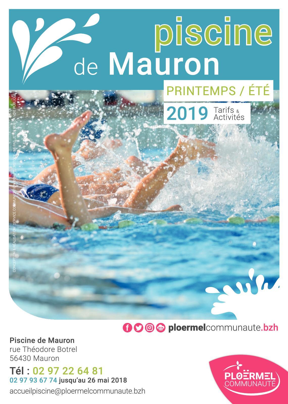 Calaméo - Flyer Piscine De Mauron à Piscine Ploermel