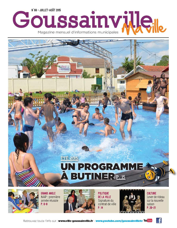 """Calaméo - """"goussainville Ma Ville"""" - N°66 destiné Piscine De Goussainville"""