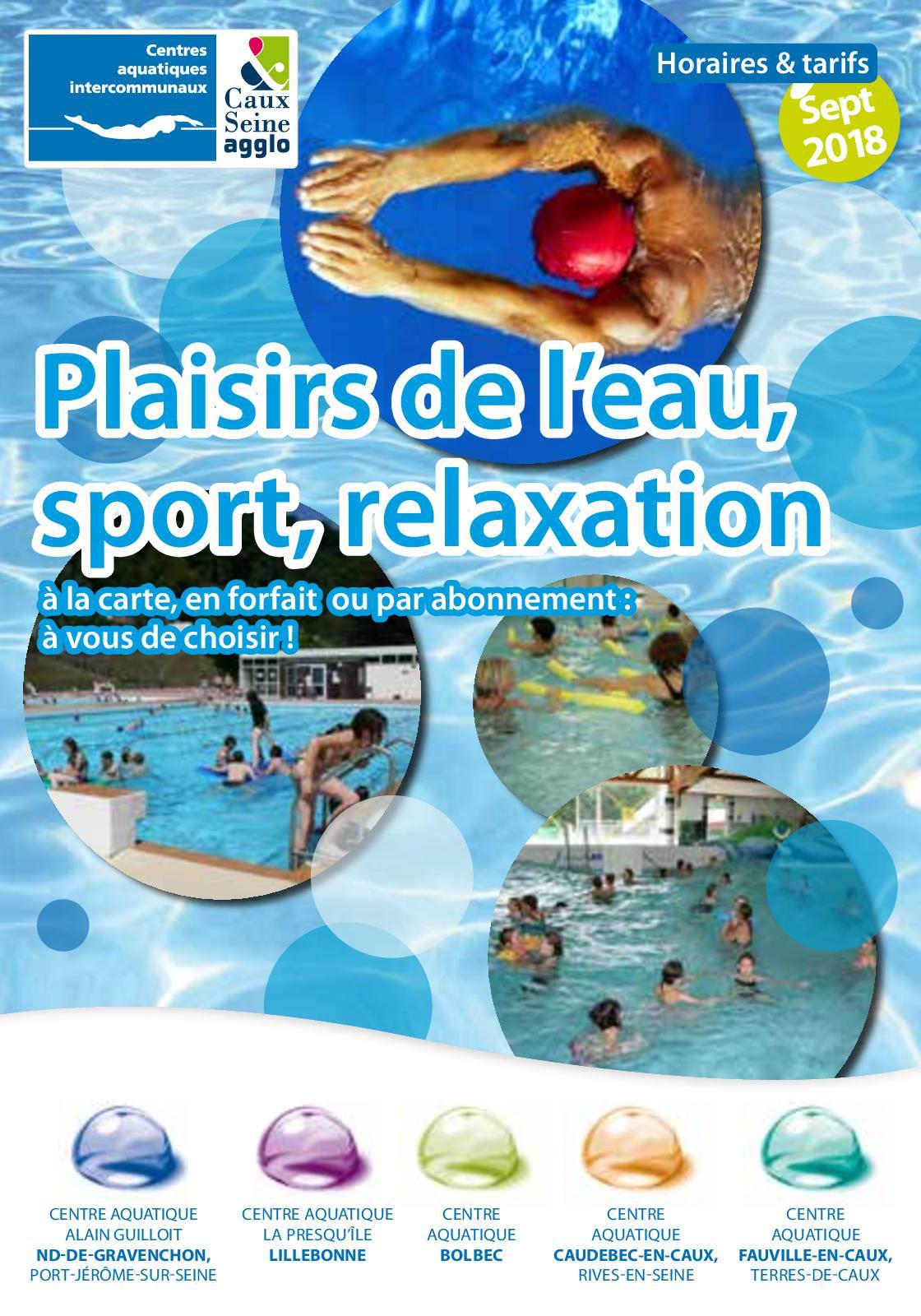 Calaméo - Guide Des Piscines Caux Vallée De Seine 2018 serapportantà Piscine Lillebonne