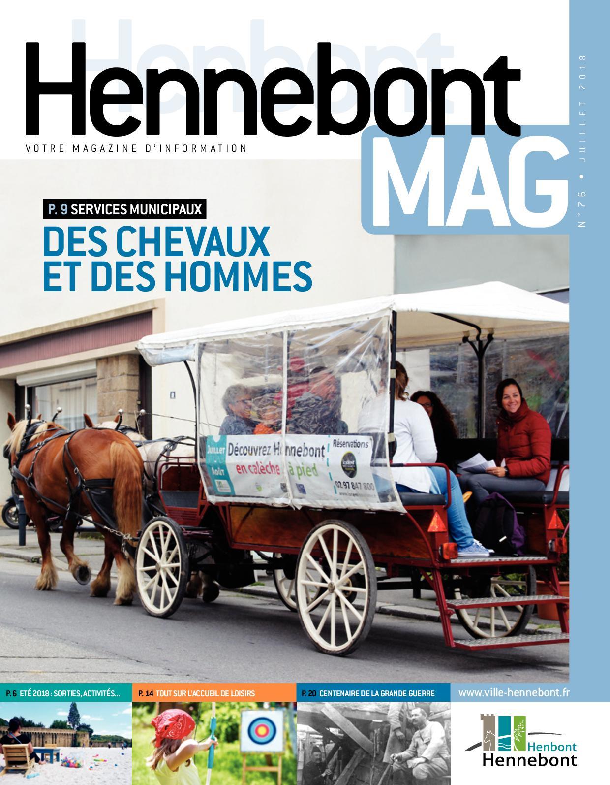 Calaméo - Hennebont Mag Juillet 2018 avec Horaire Piscine Hennebont