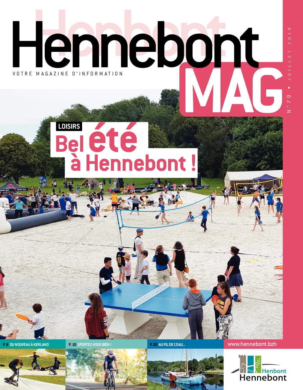 Calaméo - Hennebont Mag - Juillet 2019 pour Horaire Piscine Hennebont