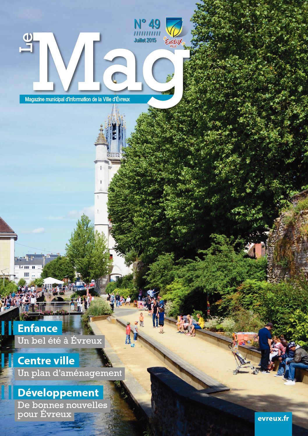 Calaméo - Le Mag - Magazine De La Ville D'evreux - N°49 Juillet serapportantà Piscine Evreux Jean Bouin