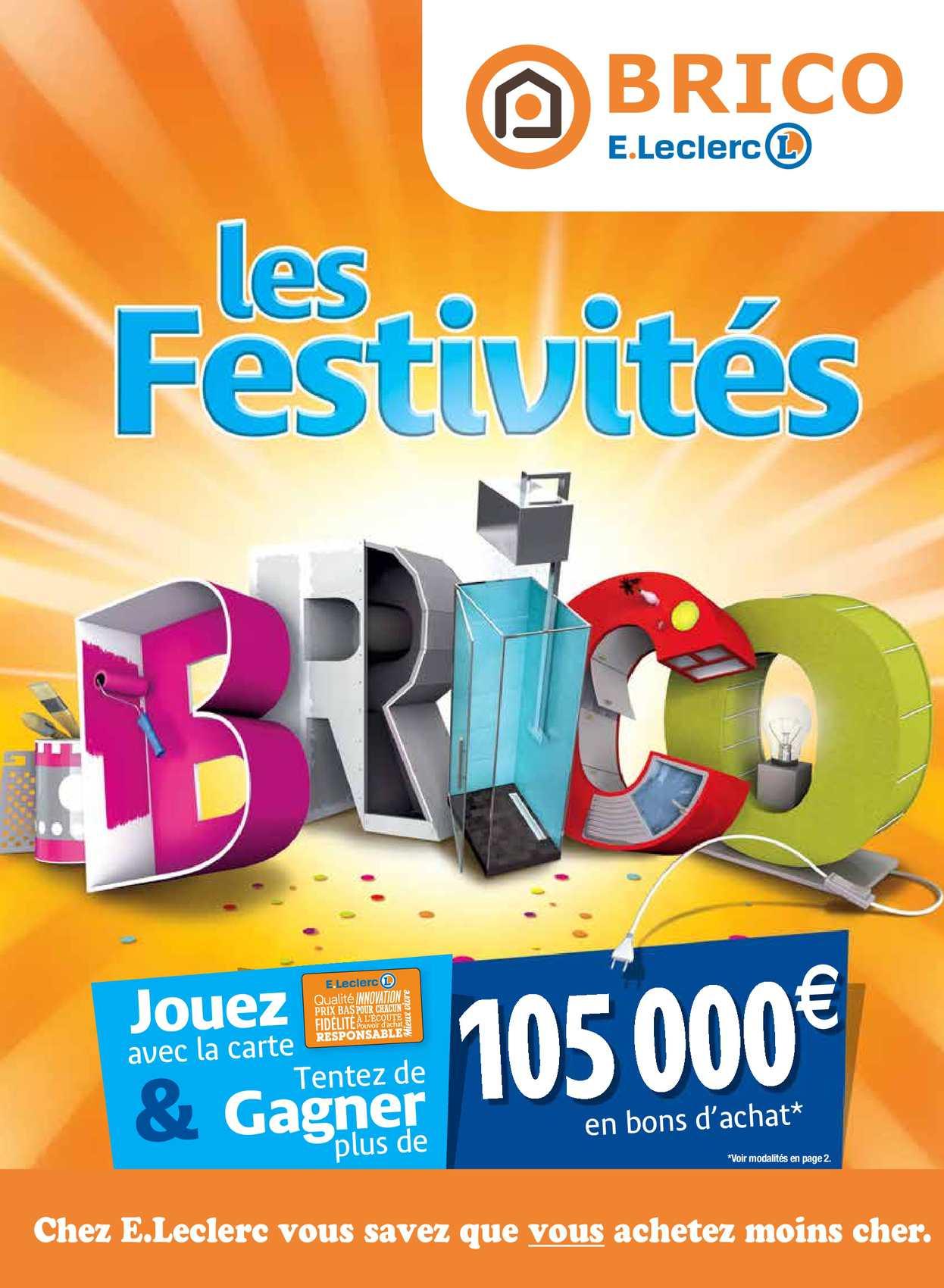 Calaméo - Les Festivites encequiconcerne Leclerc Piscine Tubulaire