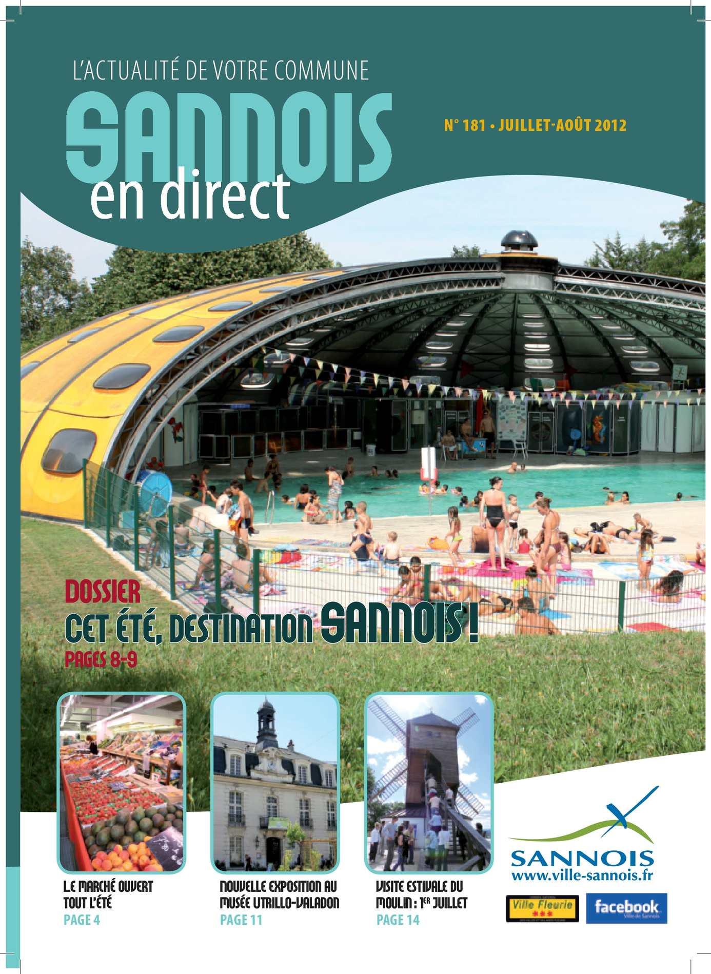 Calaméo - Magazine Juillet Août 2012 encequiconcerne Piscine Sannois