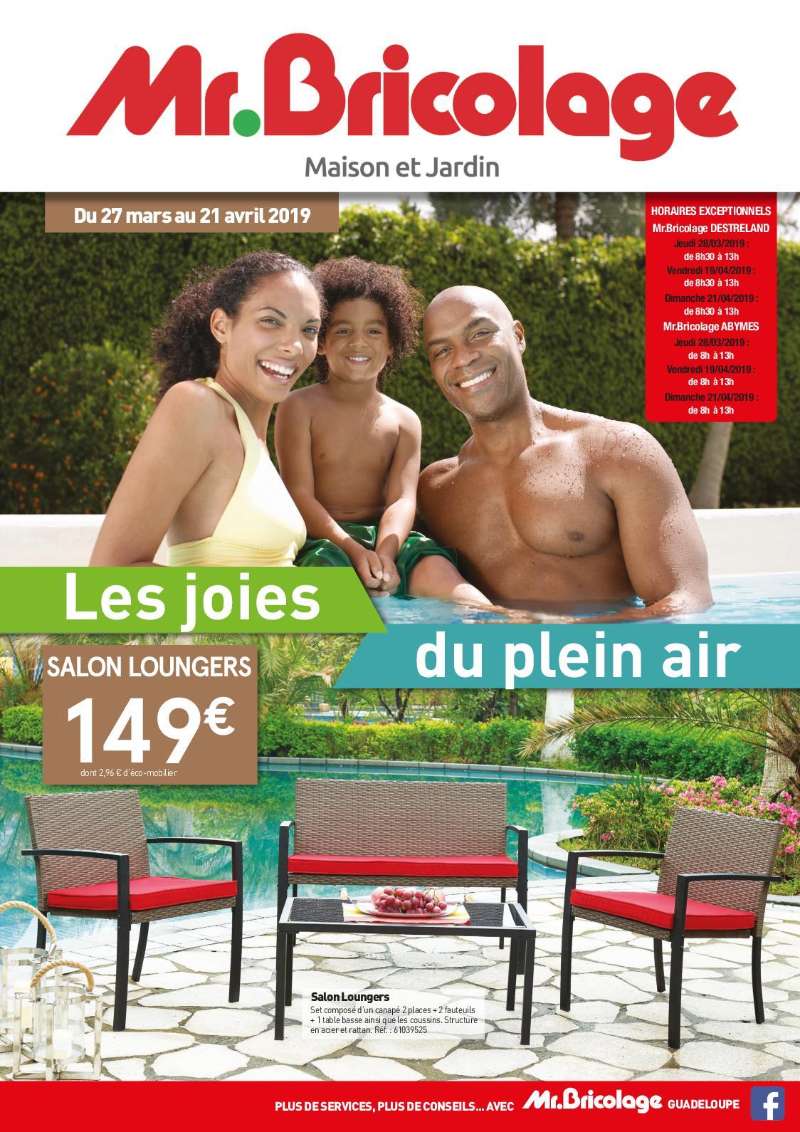 Calaméo - Mr Bricolage Guadeloupe - Catalogue Plein Air 2019 concernant Mr Bricolage Piscine