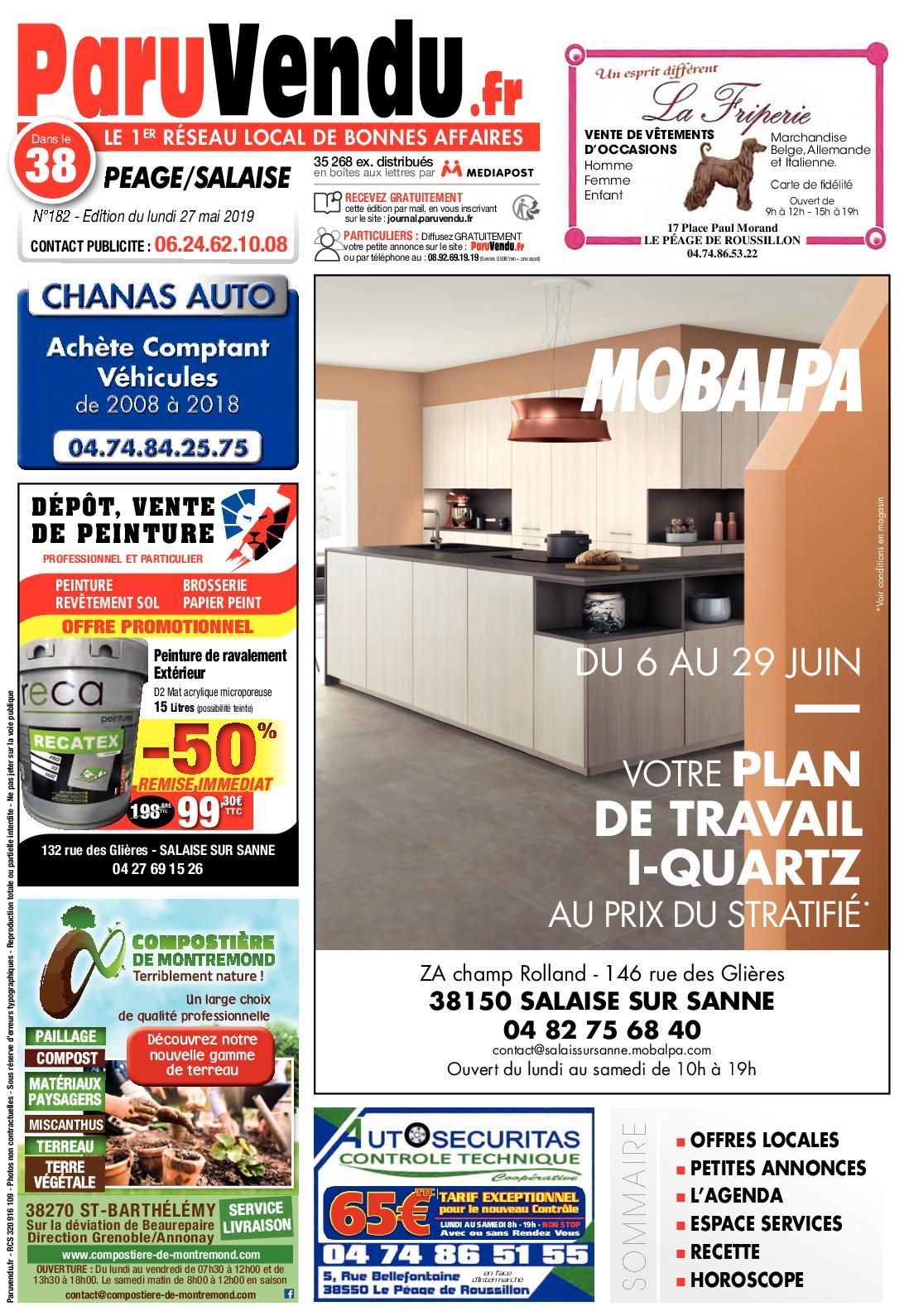 Calaméo - Paruvendu.fr Peage-Salaise N°182 concernant Cash Piscine Bourg De Peage