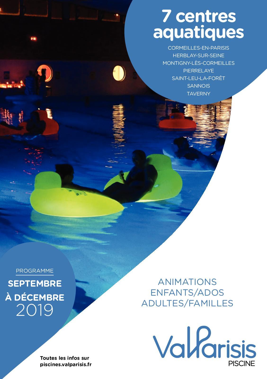Calaméo - Programme Piscines Septembre Décembre 2019 concernant Piscine Cormeilles En Parisis