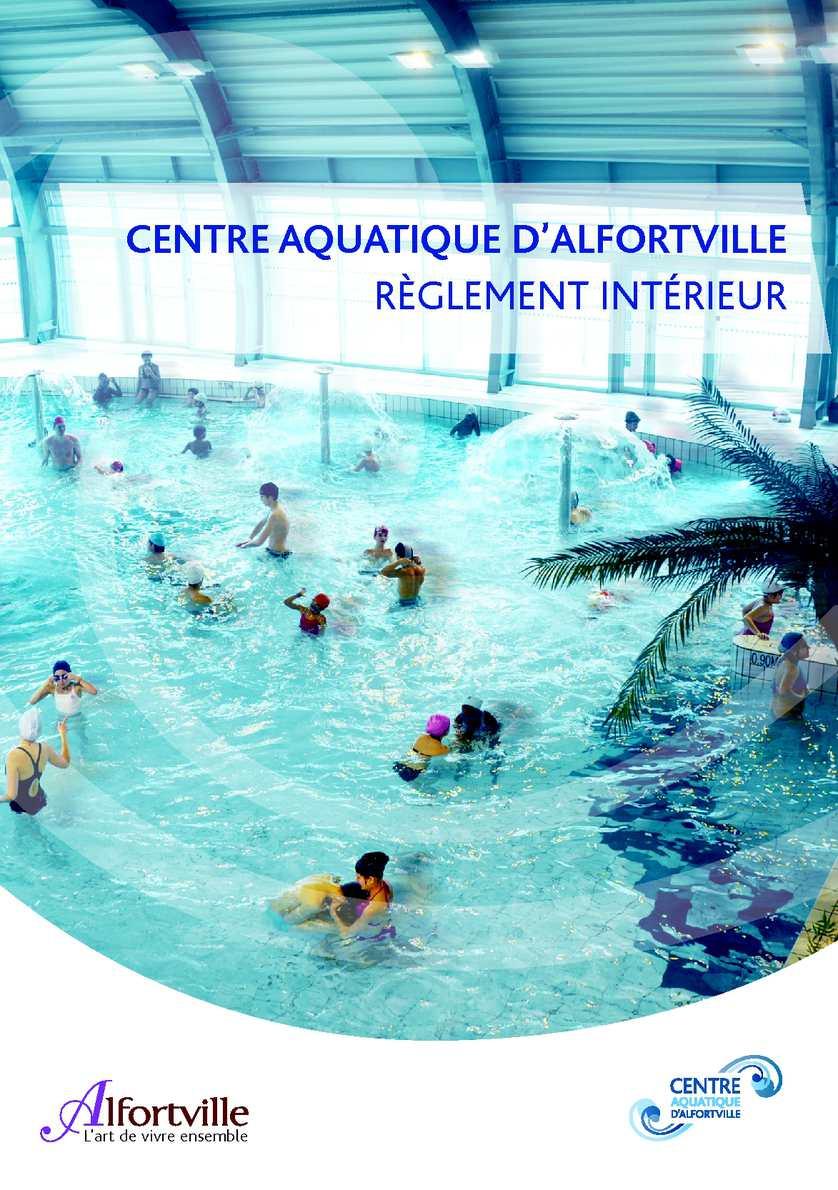 Calaméo - Règlement Intérieur Centre Aquatique D'alfortville tout Piscine Alfortville