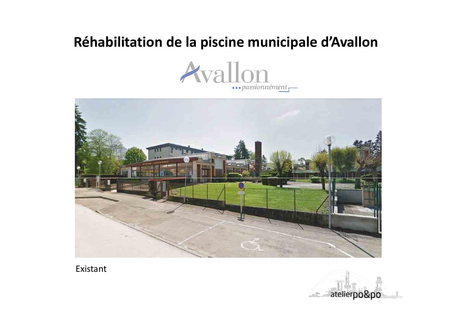 Calaméo - Réhabilitation De La Piscine Municipale D'avallon serapportantà Piscine Avallon