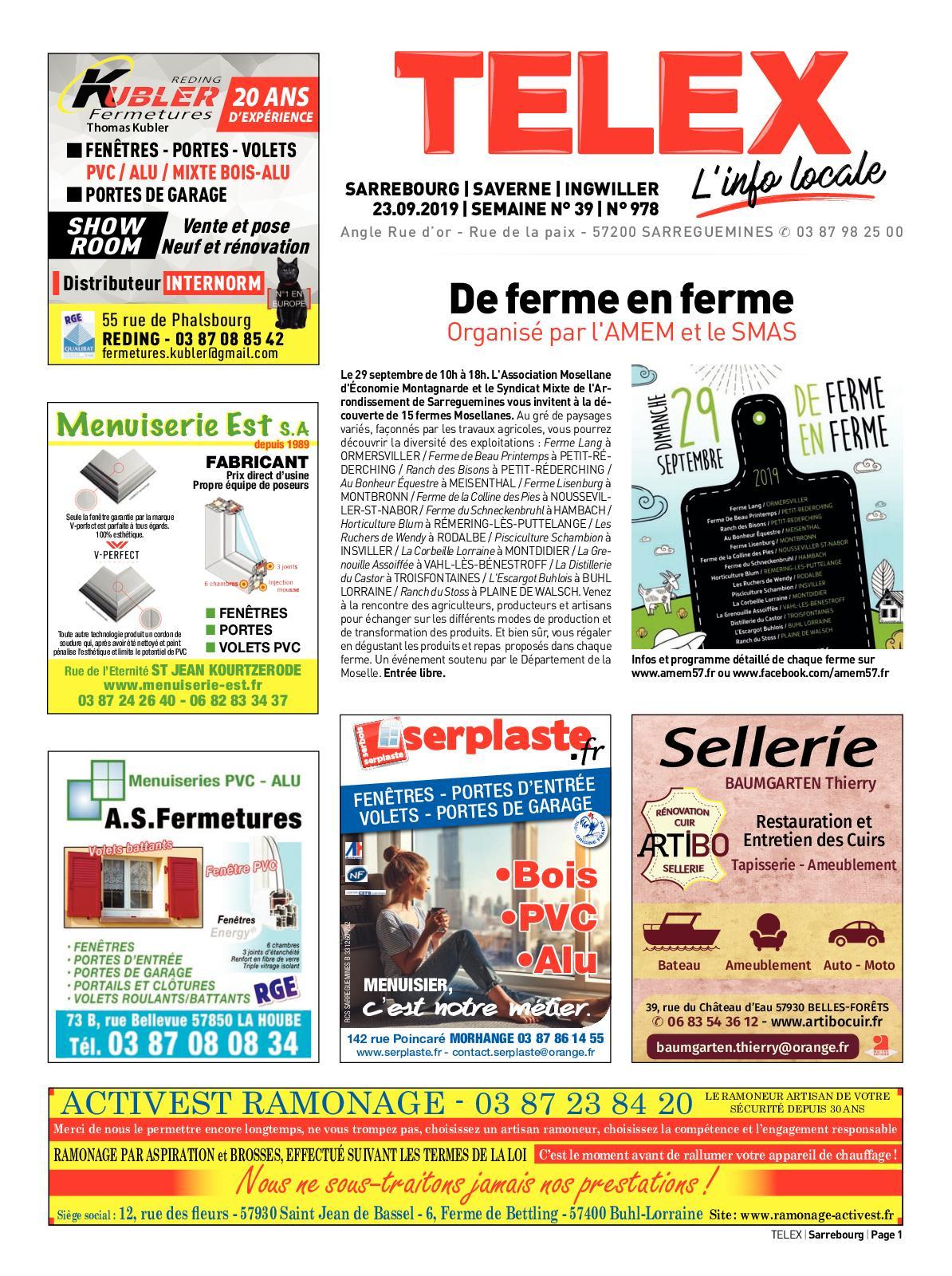 Calaméo - Telex Sarrebourg 3919 serapportantà Restaurant La Piscine Sarrebourg