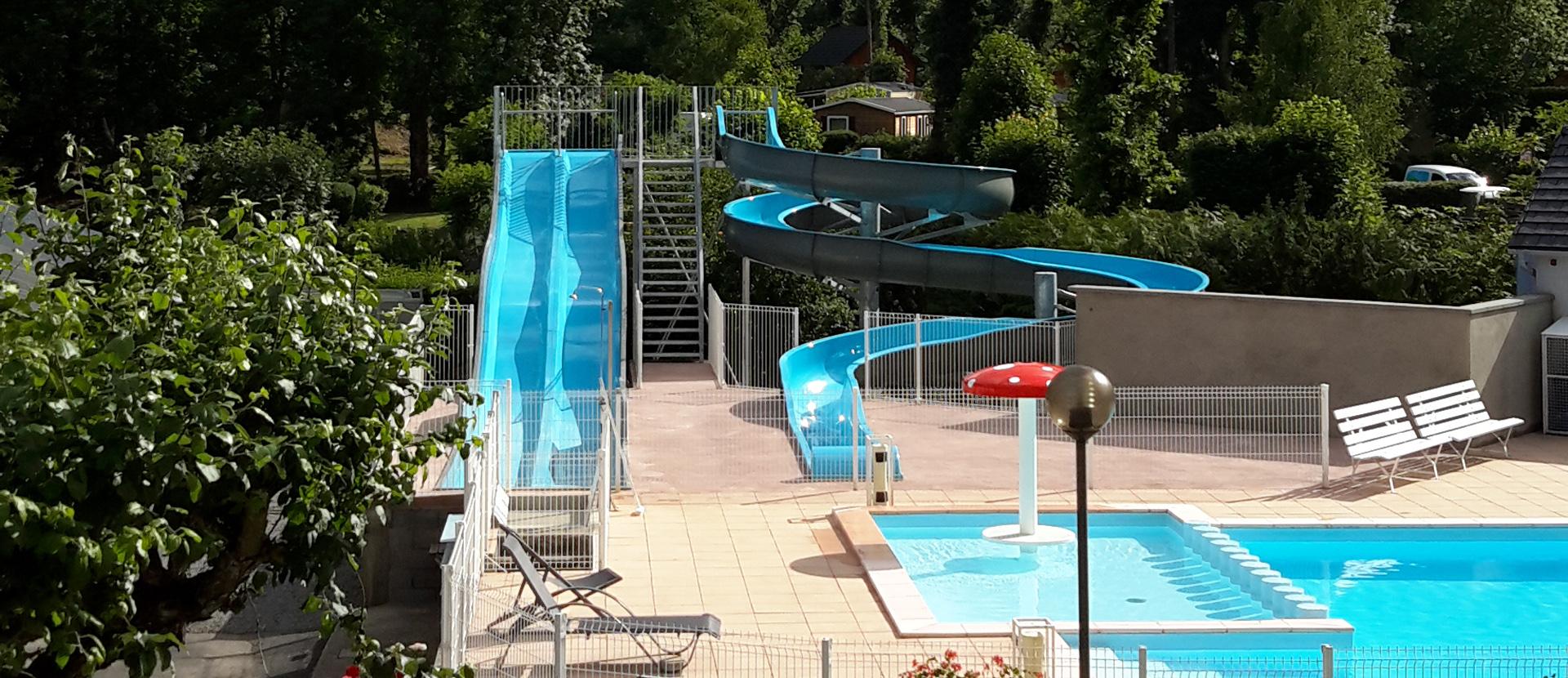 Camping Auvergne - Camping La Cle Des Champs **** - Saint ... pour Camping Auvergne Piscine