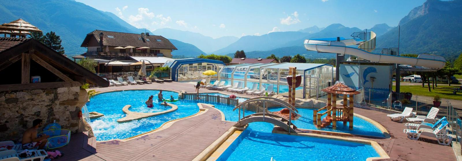 Camping L'ideal Lac D'annecy | Camping Bord Du Lac Ville D ... dedans Camping Annecy Avec Piscine